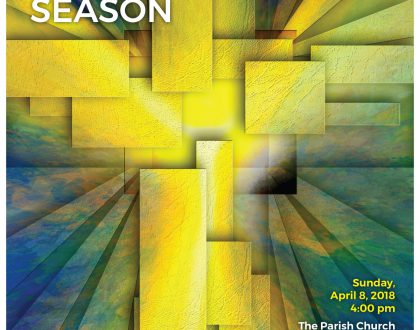 Readings and Music for the Easter Season April 8 at 4PM