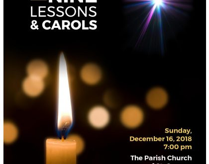 Festival of Nine Lessons and Carols - December 16 at 7PM